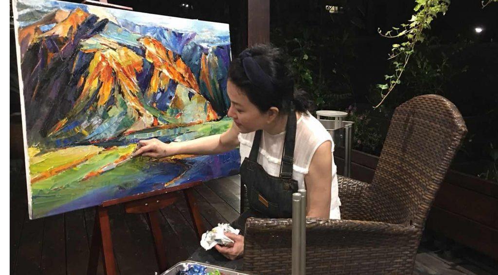 華麗的轉身 邱于庭 繪畫 韶光·四季2021普羅畫室師生聯展