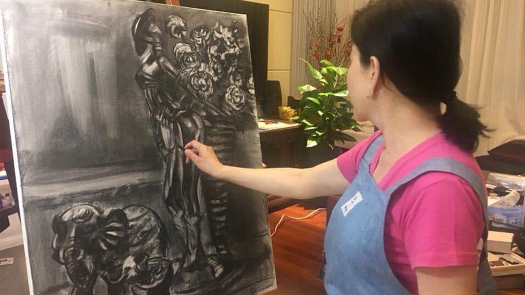 華麗的轉身 邱于庭 繪畫 韶光·四季2021普羅畫室師生聯展2